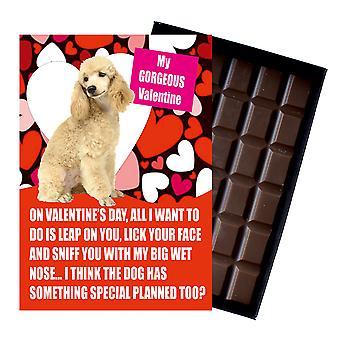 PoodleGift for Valentines dag gaver til hund elskere sjov boxed chokolade