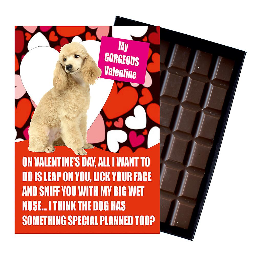 PoodleGift for Valentines Day Presents For Dog Lovers Funny Boxed Chocolate