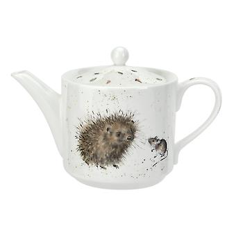Wrendale Designs 1 Pint Teapot, Hedgehog & Mouse