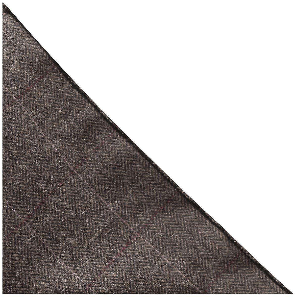 Luxury Herringbone Mocha Brown Pocket Square, Handkerchief