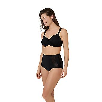 Sans Complexe 62QAE00-GCE Women's Perfect Shape Black Lace Full Panty Highwaist Brief