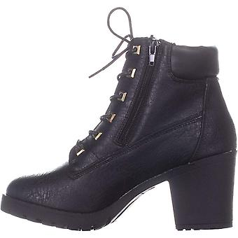 Ziginy Womens Kerin Fabric Almond Toe Ankle Combat Boots