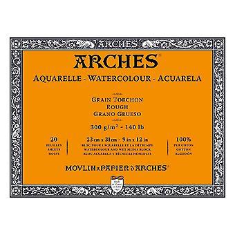 Arches Watercolour Paper Block 300gsm 23 x 31 cm (Rough)