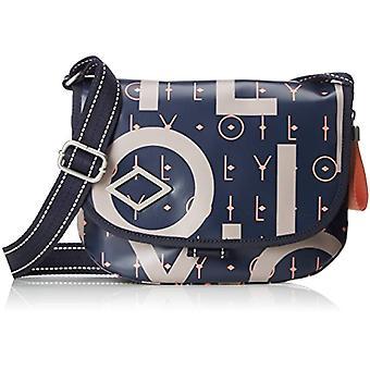 Oilily Lori Letters Shoulderbag Shf - Blue Women's Shoulder Bags (Dark Blue) 8x19x26 cm (B x H T)