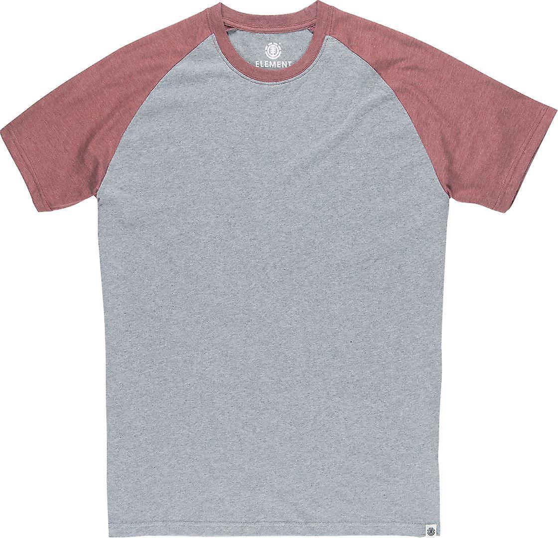 Element Men's T-Shirt ~ Basic Raglan oxblood