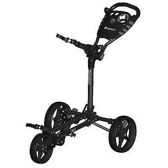 Fast fold plat 3 wiel push Golf trolley antraciet/zwart