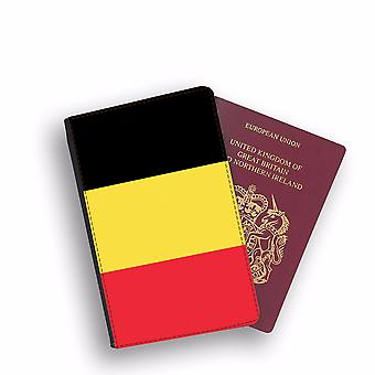 BELGIUM Flag Passport Holder Style Case Cover Protective Wallet Flags design