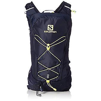 Salomon L40412600 - Leichter Laufrucksack 12 l Agile 12 Adult Unisex Set - dunkelblau/gelb (Nachthimmel/Schwefelfeder)