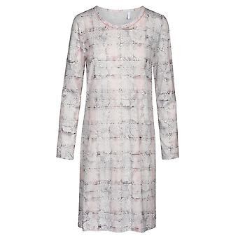 Rosch 1193533-16413 Donne's Smart Casual Rosa Paisley Check Cotton Nightdress