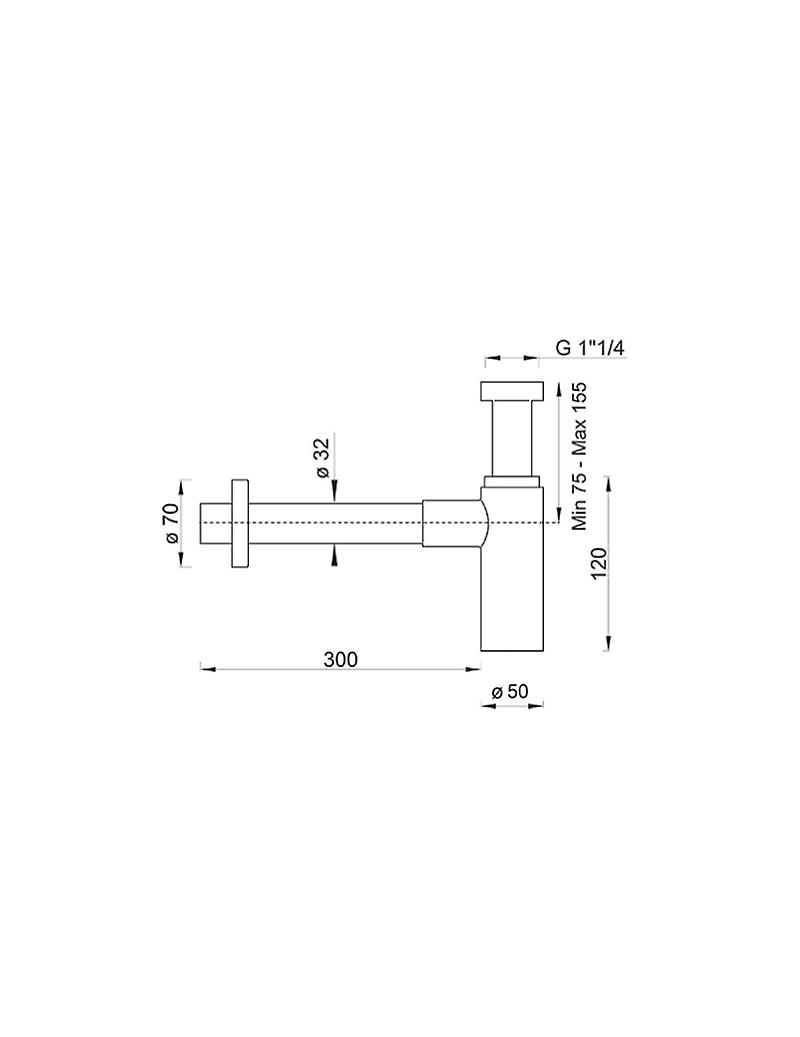 Minimalist Aesthetic Siphon From 1' 1/4 For Lavabo, Modern