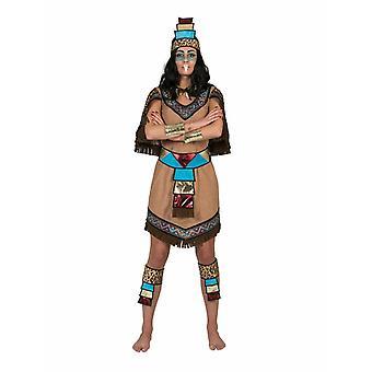 Kostym Azteke Lady Ichtaca kvinnors kostym Mexico Etno nationer Sydamerika Inca Nations klänning karneval