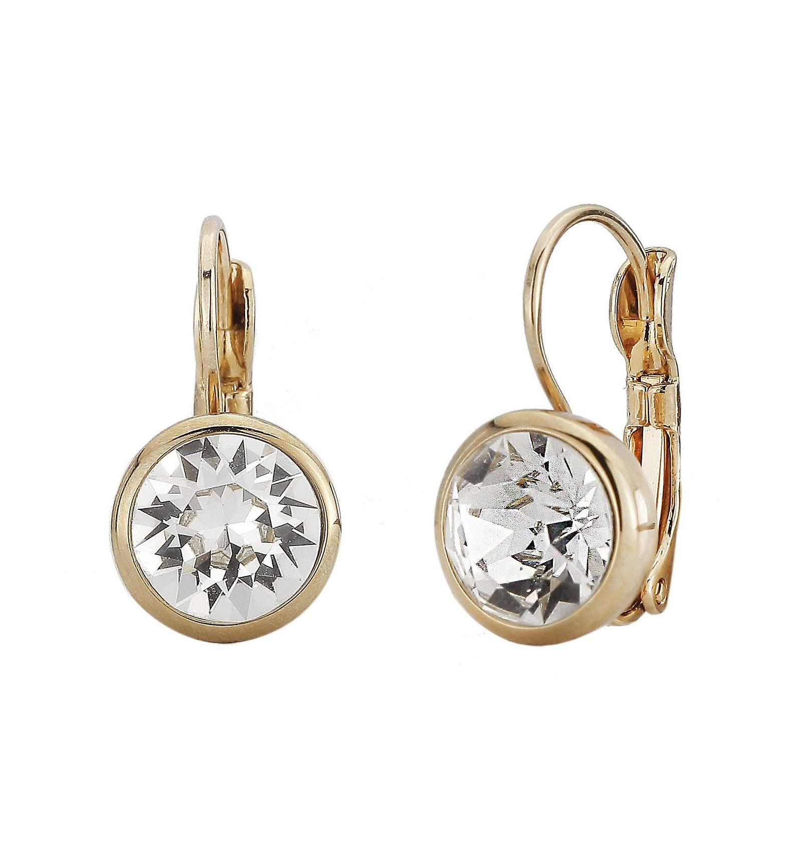 Traveller drop earring - Leverback - 22ct gold palted - 157042