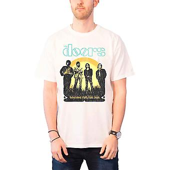 The Doors T Shirt mens Waiting For The Sun jim morrison new Official White