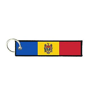 Port Cles Key Cle Homme Homme Fabric Brode Prints Moldova Moldova flag