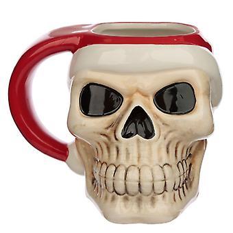 Puckator Jingle Bones jul skalle huvud formad mugg