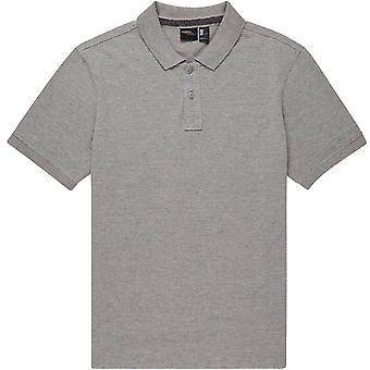 ONeill Pique Polo Camisa en plata cuerpo a cuerpo