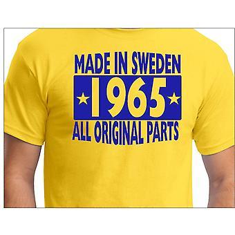 Gele T-shirt gemaakt in Zweden 1965 alle originele onderdelen
