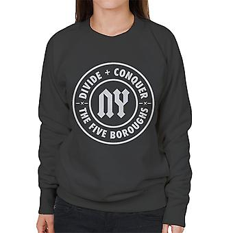 Divide & Conquer NY The Five Boroughs Women's Sweatshirt