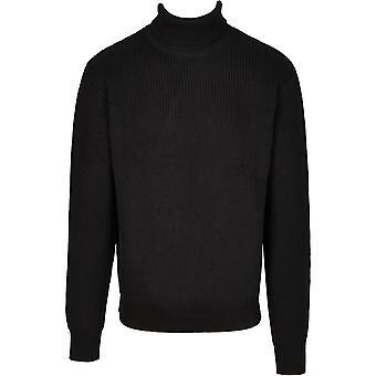 Urban Classics Men's Knit Sweater Cardigan Stitch Roll Neck