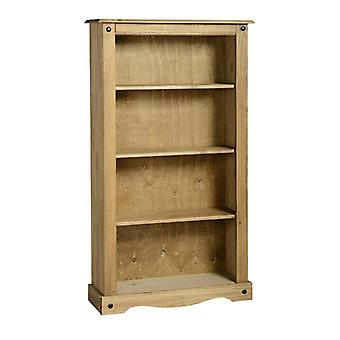 Corona Medium Bookcase Distressed Waxed Pine
