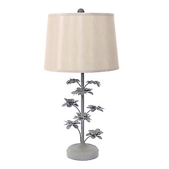 "8"" x 12"" x 28"" Gray, Rustic, Flowering Tree - Table Lamp"
