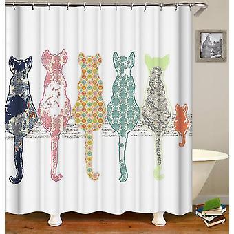 Bunte Katzen Duschvorhang