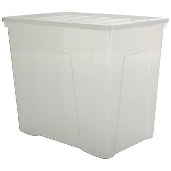Wham Storage Pallet Of 8 - 160 Litre Superlarge Crystal Plastic Storage Boxes With Lids