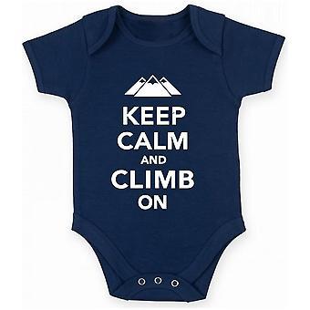 Body neonato blu navy dec0185 keep calm climb on mountains