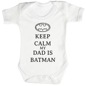 Calm My Dad Is Batman Baby Bodysuit / Babygrow