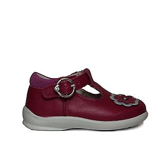 Ricosta Winsy 2121000-330 Pink Leather Girls T Bar Shoes