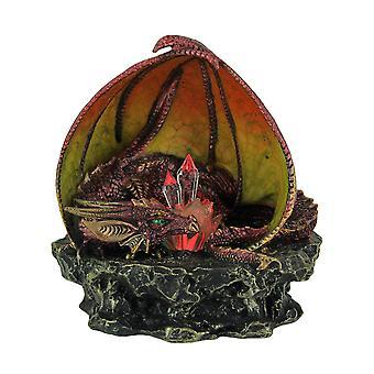 Защитные красный дракон, охрана цвет меняется привело кристаллы статуя