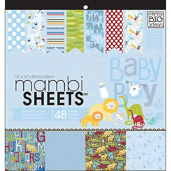 Mambi Specialty Cardstock Pad 12-quot;X12-quot; 48/Pkg-Oh Baby Boy