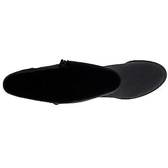 Easy Street Women's Memphis Mid Calf Boot, Flat Black, 9 XW US