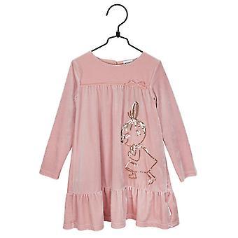 Äiti pikku veluurinen mekko vaaleanpunainen martinex