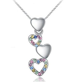 18k white-gold plated sian heart necklace