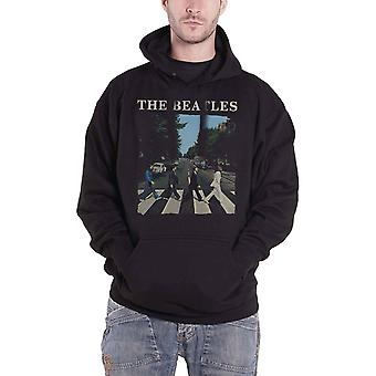 The Beatles Hoodie Abbey Road Band Logo new Official Mens Black Pullover