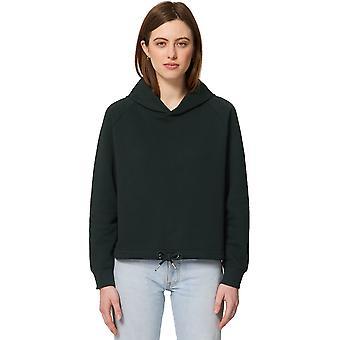 greenT Womens Organic Bower Cropped Raglan Sweater Hoodie