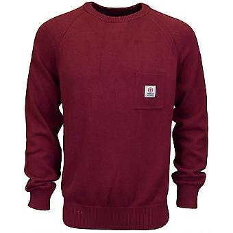Franklin & Marshall Ca043 Round Neck Cotton Amaranto Red Knitwear