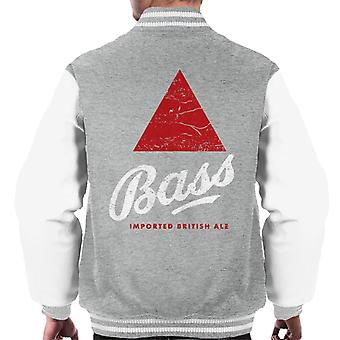 Bass Red Triangle Classic Logo Men's Varsity Jacket