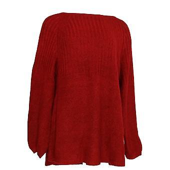 Estilo & Co. Mulheres's Plus Camisola Rib Túnica True Red