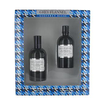 Geoffrey Benne Grey Flannel 120ml Aftershave and 120ml Eau de Toilette Spray Gift Set for Men