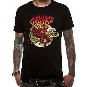 Marvel Unisex Adults Venom Carnage Is Back Design T-shirt