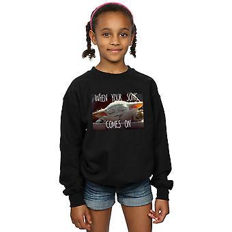 Star Wars Girls The Mandalorian The Child Song Meme Sweatshirt