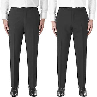 Skopes Mens Big Tall Darwin Flat Front Classic Fit Formal Suit Trousers Pants