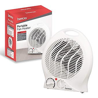 Benross 2000W Portable Fan Heater With Carry Handle White With Heat and Cooling