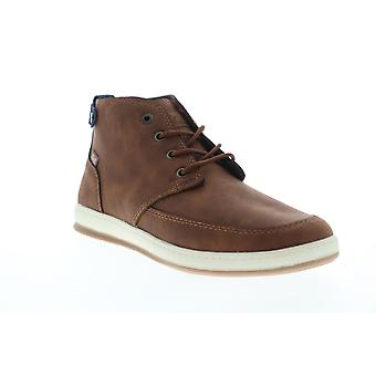 G.H. Bass Atwater Wx B  Mens Brown Mid Top Lace Up Chukkas Boots