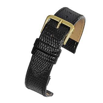 Lizard grain watch strap black - economy collection