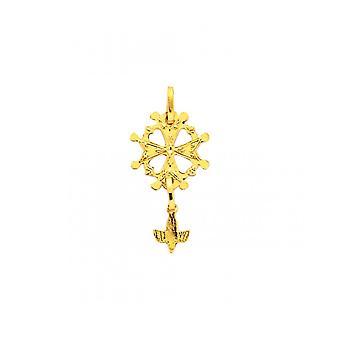 Huguenote Cross ciondolo oro 750/1000 giallo (18K)