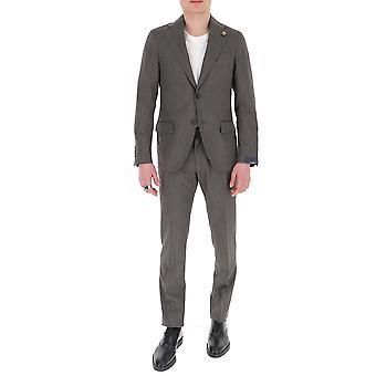 Lardini Ei416aeeirp544951 Men's Grey Cotton Suit