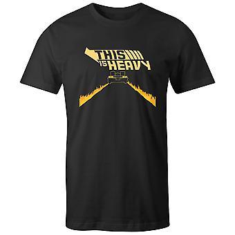 Boys Crew Neck Tee Short Sleeve Men-apos;s T Shirt- This Is Heavy